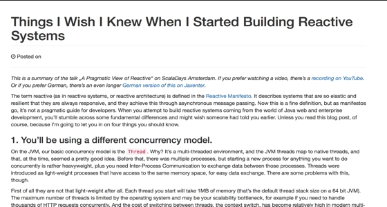 Things I Wish I Knew When I Started Building Reactive Systems